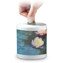 Water Lilies #2 Coin Bank