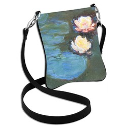 Water Lilies #2 Cross Body Bag - 2 Sizes