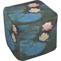 Water Lilies #2 Cube Pouf Ottoman