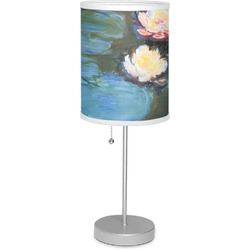 """Water Lilies #2 7"""" Drum Lamp with Shade"""