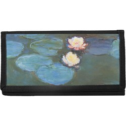 Water Lilies #2 Canvas Checkbook Cover
