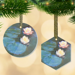 Water Lilies #2 Flat Glass Ornament