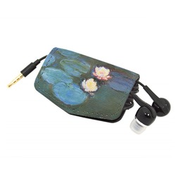 Water Lilies #2 Genuine Leather Cord Wrap