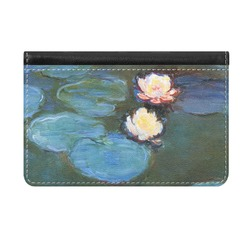 Water Lilies #2 Genuine Leather ID & Card Wallet - Slim Style