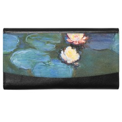 Water Lilies #2 Genuine Leather Ladies Wallet