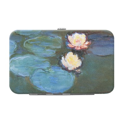 Water Lilies #2 Genuine Leather Small Framed Wallet