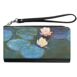 Water Lilies #2 Genuine Leather Smartphone Wrist Wallet