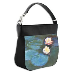 Water Lilies #2 Hobo Purse w/ Genuine Leather Trim