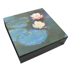 Water Lilies #2 Leatherette Keepsake Box - 3 Sizes