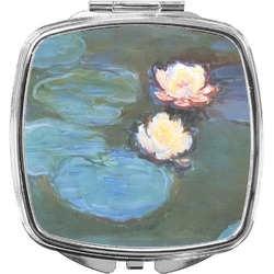 Water Lilies #2 Compact Makeup Mirror