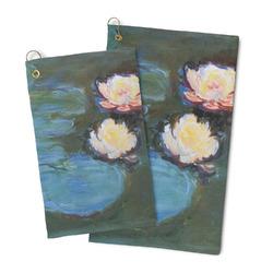 Water Lilies #2 Microfiber Golf Towel