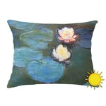 Water Lilies #2 Outdoor Throw Pillow (Rectangular)