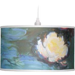 Water Lilies #2 Drum Pendant Lamp