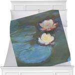 Water Lilies #2 Minky Blanket