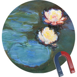 Water Lilies #2 Round Fridge Magnet