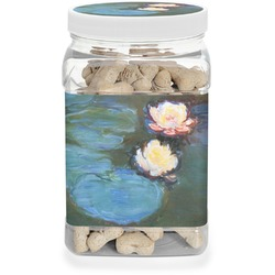 Water Lilies #2 Pet Treat Jar