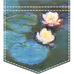 Water Lilies #2 Iron On Faux Pocket