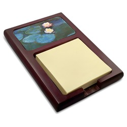 Water Lilies #2 Red Mahogany Sticky Note Holder