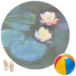 Water Lilies #2 Round Beach Towel