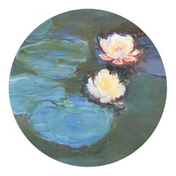 Water Lilies #2 Round Decal