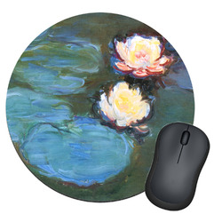 Water Lilies #2 Round Mouse Pad