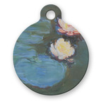 Water Lilies #2 Round Pet Tag