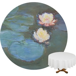 Water Lilies #2 Round Tablecloth