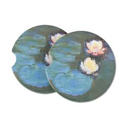 Water Lilies #2 Sandstone Car Coasters