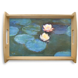 Water Lilies #2 Natural Wooden Tray