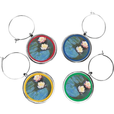 Water Lilies #2 Wine Charms (Set of 4)