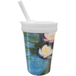 Water Lilies #2 Sippy Cup with Straw