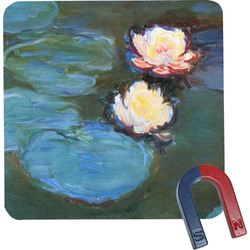 Water Lilies #2 Square Fridge Magnet