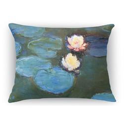 "Water Lilies #2 Rectangular Throw Pillow - 18""x24"""