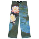 Water Lilies #2 Womens Pajama Pants