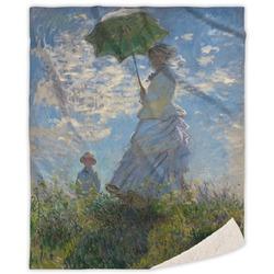 Promenade Woman by Claude Monet Sherpa Throw Blanket