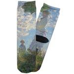 Promenade Woman by Claude Monet Adult Crew Socks
