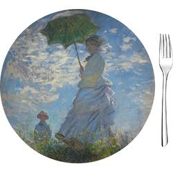 "Promenade Woman by Claude Monet 8"" Glass Appetizer / Dessert Plates - Single or Set"