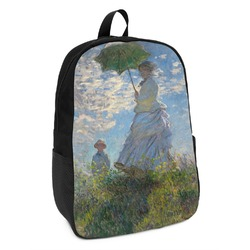 Promenade Woman by Claude Monet Kids Backpack