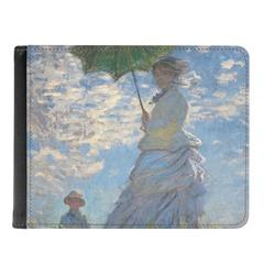 Promenade Woman by Claude Monet Genuine Leather Men's Bi-fold Wallet
