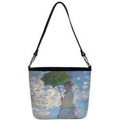 Promenade Woman by Claude Monet Bucket Bag w/ Genuine Leather Trim