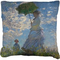 "Promenade Woman by Claude Monet Faux-Linen Throw Pillow 26"""