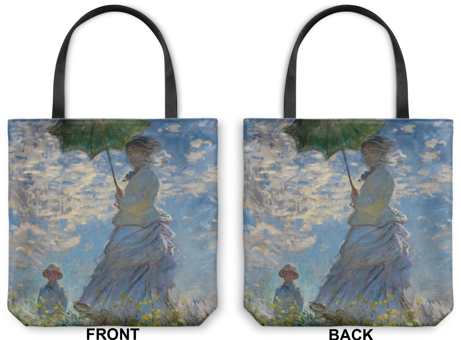 Promenade Woman Canvas Tote Bag Medium 16 Quot X16