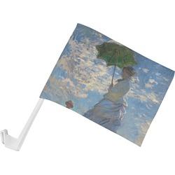 Promenade Woman by Claude Monet Car Flag