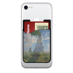 Promenade Woman by Claude Monet 2-in-1 Cell Phone Credit Card Holder & Screen Cleaner