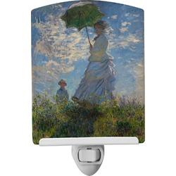 Promenade Woman by Claude Monet Ceramic Night Light