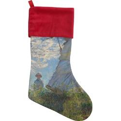 Promenade Woman by Claude Monet Christmas Stocking