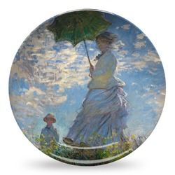 Promenade Woman by Claude Monet Microwave Safe Plastic Plate - Composite Polymer