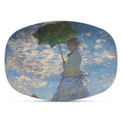 Promenade Woman by Claude Monet Plastic Platter - Microwave & Oven Safe Composite Polymer
