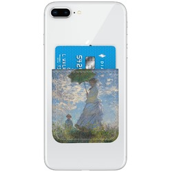 Promenade Woman by Claude Monet Genuine Leather Adhesive Phone Wallet