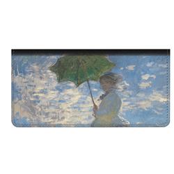 Promenade Woman by Claude Monet Genuine Leather Checkbook Cover